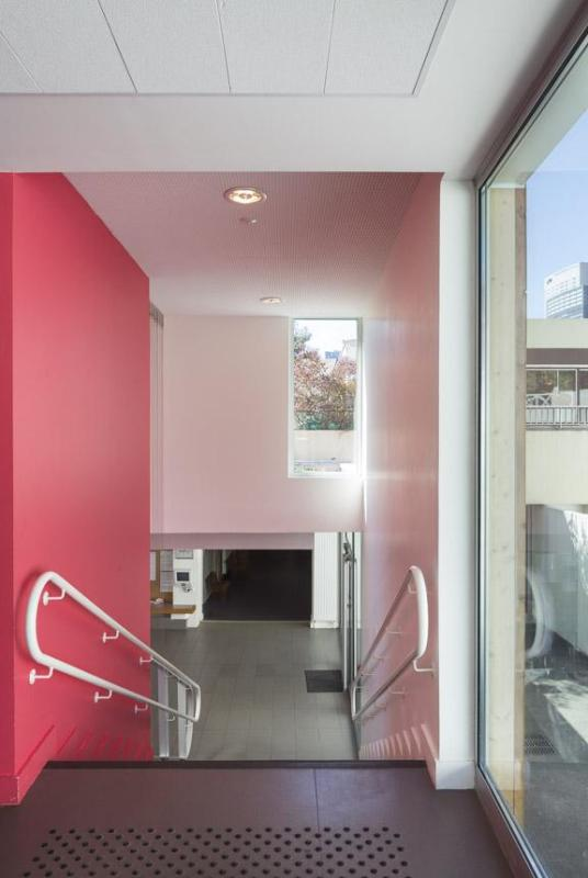THE STAIRS BETWEEN THE EXTENSION AND THE EXTISTING BUILDING, Image Courtesy © Sergio GRAZIA