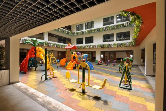 NTS Interiors seminar hall, Image Courtesy © Ravi Kanade