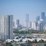 Overview of the block, with skyline in the background, Image Courtesy © Christian Gahl