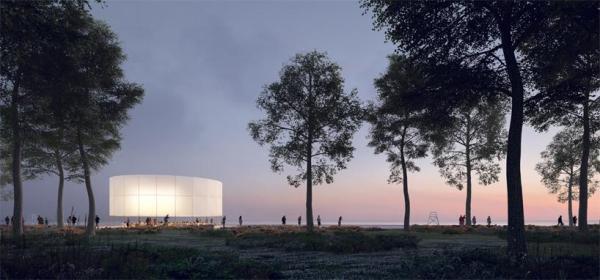 EXTERIOR VIEW_CINEMA, Image Courtesy © Guillaume Mazars Architecture