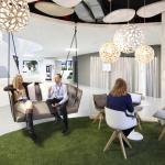 First Floor_Meet & Create_Informal Area_Green Lounge, Image Courtesy © Thomas Beyerlein