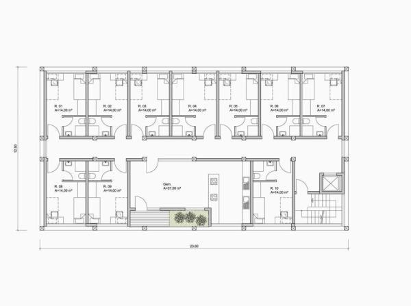 4th floor, Image Courtesy © herrmannsArchitekten