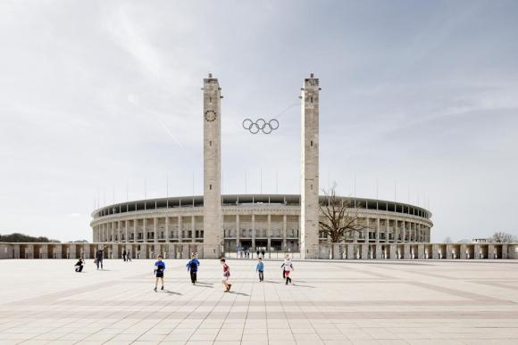 Main view from Olympischer Platz, Image Courtesy © Marcus Bredt