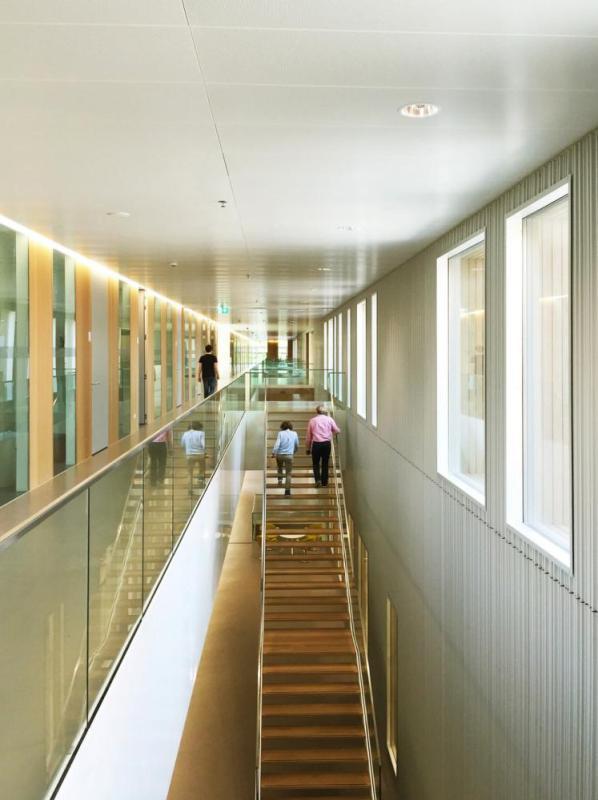 Void seen from the second floor photo, Image Courtesy © Ector Hoogstad Architecten