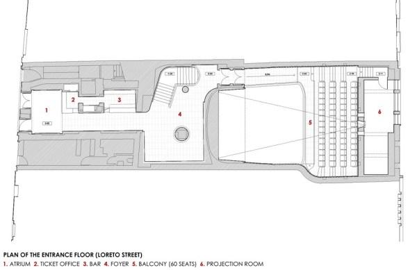Plan of the entrance floor ( Loreto street), Image Courtesy © José Simões Neves gabinete de arquitectura, lda
