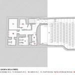 Plan of the exit floor (Horta Seca street), Image Courtesy © José Simões Neves gabinete de arquitectura, lda