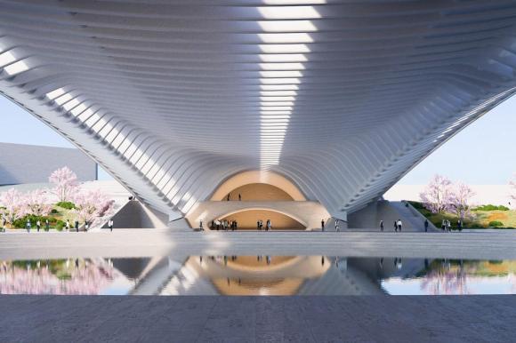 Artistic impression of Licong's underside, Image Courtesy © Santiago Calatrava LLC