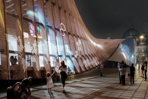 Façade, Image Courtesy © Sordo Madaleno Arquitectos, render by CGVeron
