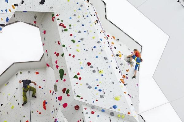 Interior view - climbing walls, Image Courtesy © Rene Riller