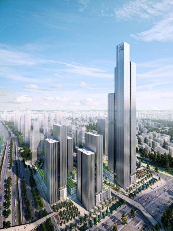 Development next to the Central Business District axis, Image Courtesy © cube-viz