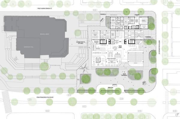 ground floor plan, Image Courtesy © Spatial practice