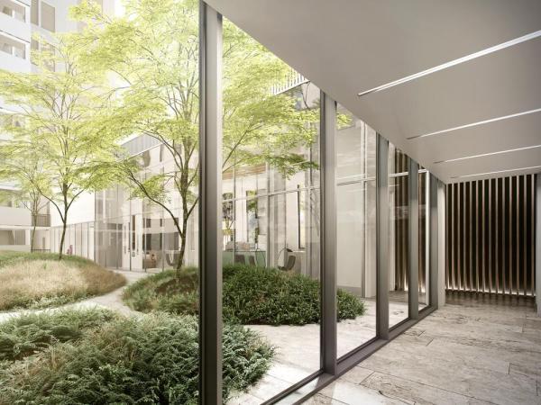 Interior courtyard, Image Courtesy © Menkès Shooner Dagenais LeTourneux Architectes