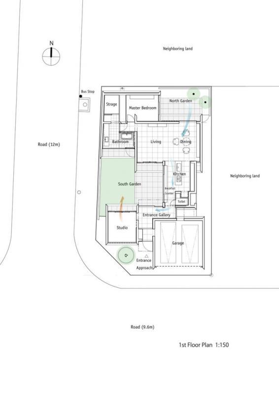 1st Floor Plan 1:150, Image Courtesy © F.A.D.S