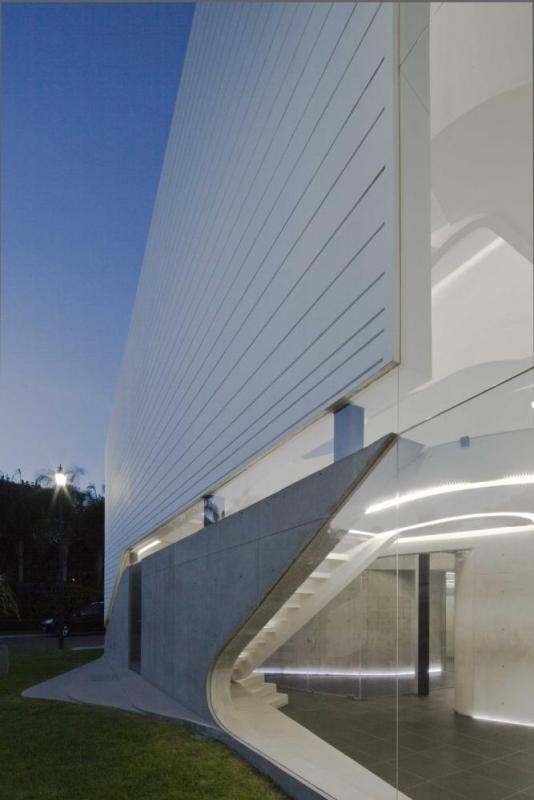 Detail view of the entrance, Image Courtesy © Onnis Luque