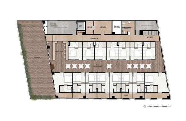 Floor Plan Level 2, Image Courtesy © zlgdesign