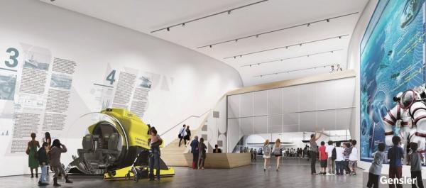 ALTASEA: BERTH 56 ENGAGEMENT CENTER FIRST FLOOR EXHIBITION HALL, Image Courtesy © Gensler