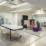 A second meeting space is more relaxed, whilst the first features a ping-pong table, Image Courtesy © Gareth Gardner