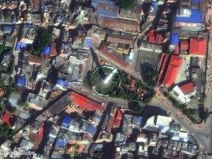 Dharahara Tower, Kathmandu April 2014 before the earthquake, courtesy DigitalGlobe