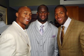 Eddie George, Vince Evans, Michael Strahan at Derby