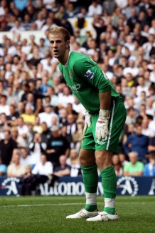 Joe Hart of Manchester City in action during the Barclays Premier League match between Tottenham Hotspur and Manchester City at White Hart Lane on August 14, 2010 in London, England.