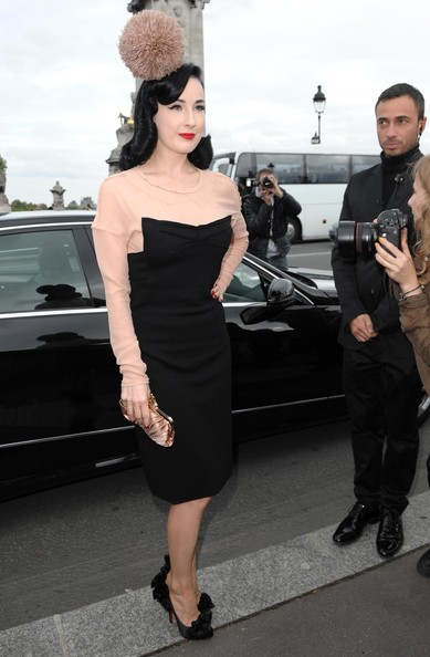 Dita+Von+Teese+Paris+Fashion+Week+Spring+Summer+fS6xEsalbVYl PFW Front Row: Dita Von Teese Hits Paris Shows %tag