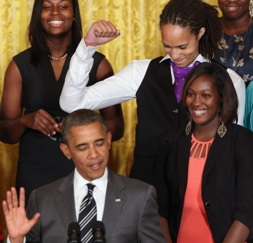 Brittney Griner - Obama Welcomes 2012 NCAA Women's Basketball Champions To White House