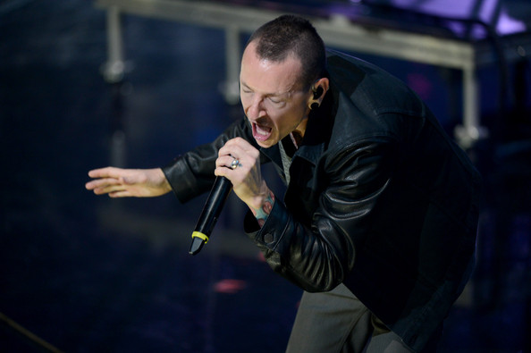 Chester Bennington Singer Chester Bennington of Linkin Park performs onstage during the 2012 iHeartRadio Music Festival at the MGM Grand Garden Arena on September 22, 2012 in Las Vegas, Nevada.
