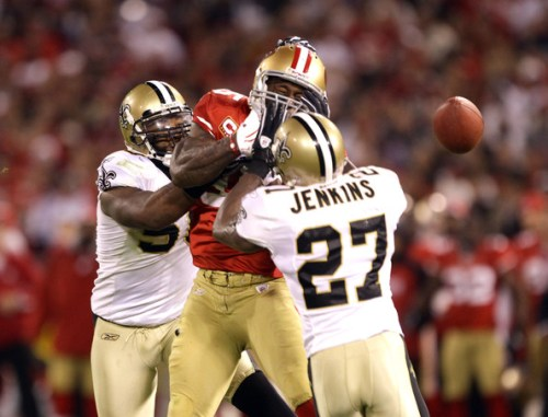 Malcolm Jenkins stopping Vernon Davis