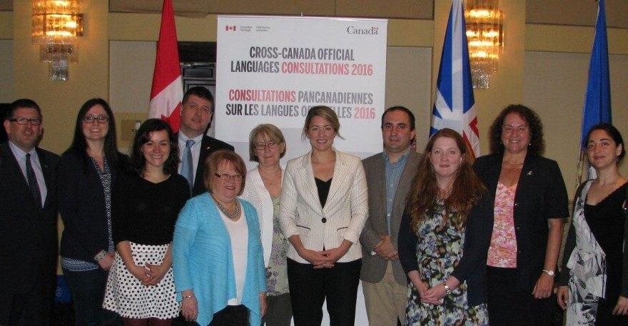 La ministre du Patrimoine canadien, Mélanie Joly, a tenu une seconde consultation sur les langues officielles, mercredi 22 juin, à St-. John's.  Benjamin Vachet