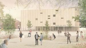 L'ouverture de la Place des arts à Sudbury est fixée pour 2020.  Courtoisie, Atelier Pierre Thibault