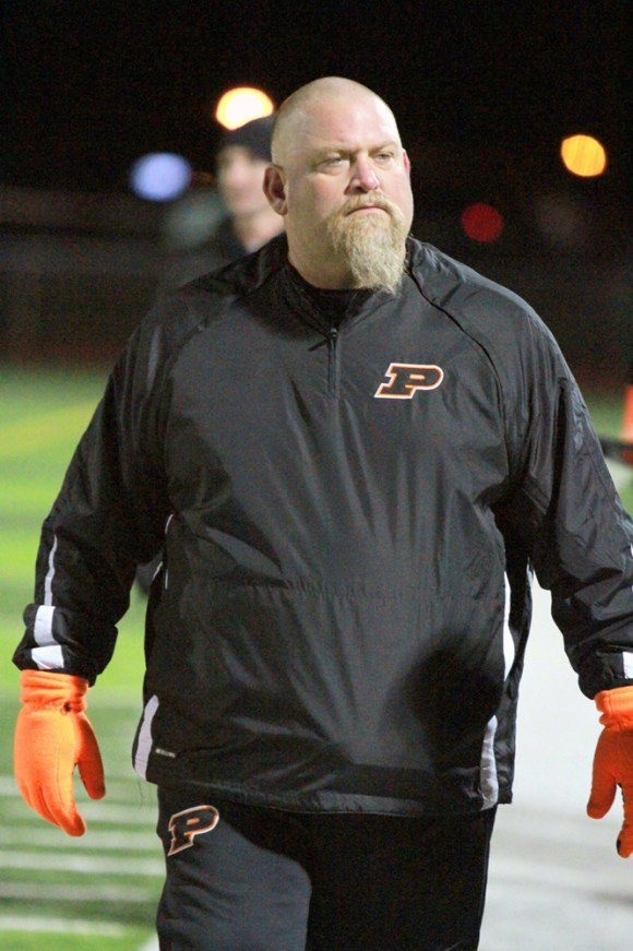 Powell coach Jim Stringer, shown here during the 2013 state championship, died Friday at 44. Photo courtesy Greg Wise.