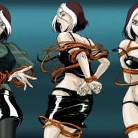 Less clothes, more ropes - Rouge goes from X to XXX!