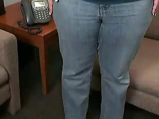 tight jeans bent over ass