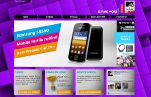 Le nouveau site de MTV mobile.