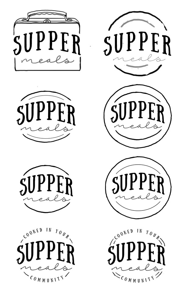 Supper logo drafts - plate