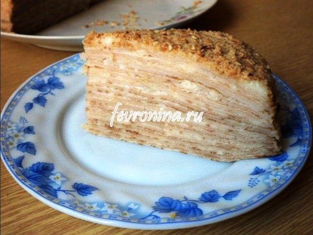 Блинный торт рецепты пошагово с кремом заварным