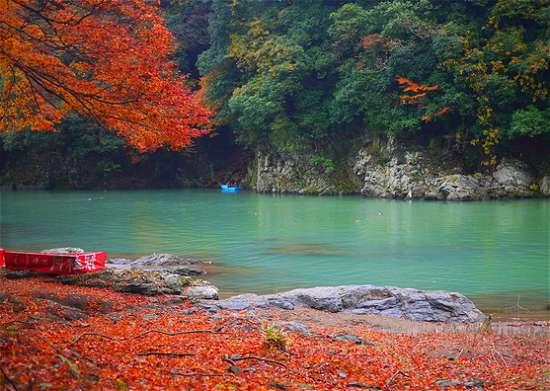 嵐山紅葉 川