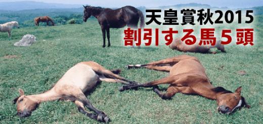天皇賞秋2015割引する馬5頭