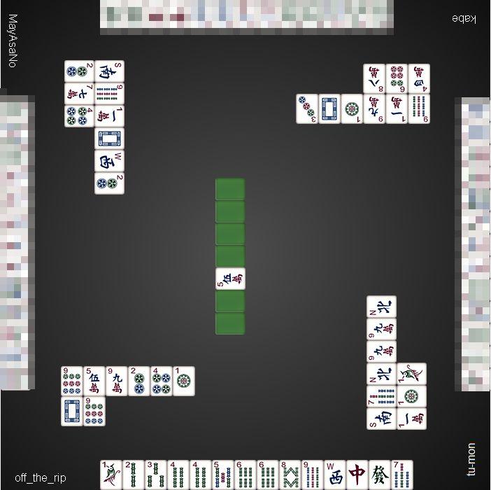 20151209dora麻雀総取りトーナメント3ゲーム目_オーラス_2