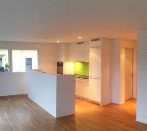 Kücheninsel in der Wohnung 5, Attika