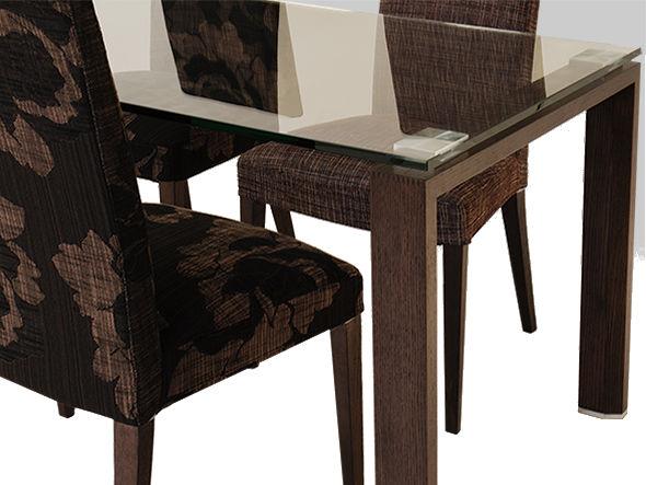 update 150 tableシンプルモダンに会うダイニングテーブル ガラス天板