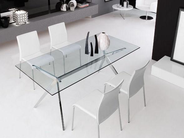 セブン ガラストップ ダイニングテーブル