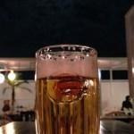 月見ビールが美味いです! 広い夜空と月が楽しめる居酒屋はちょっと無い!