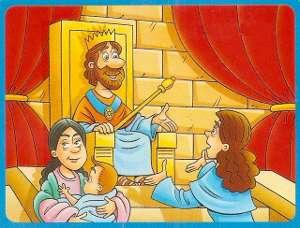 el sabio rey salomon y las dos mujeres