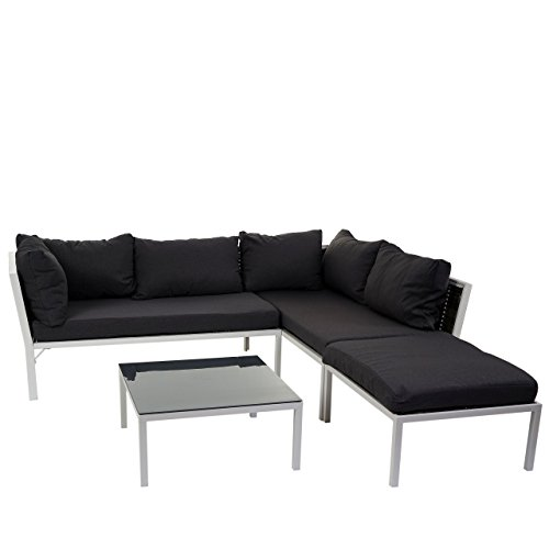 poly rattan sofa garnitur delphi sitzgruppe lounge set alu set 1 kissen anthrazit m bel24. Black Bedroom Furniture Sets. Home Design Ideas