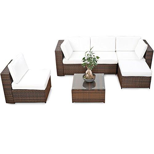 Lounge Sessel Chesterfield Polyrattan Braun ~ XXLLoungeSetPolyrattanbraunGartenmbelSitzgruppeGarniturLounge