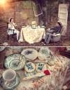 不思議の国のアリスっぽい結婚式が素敵な画像129