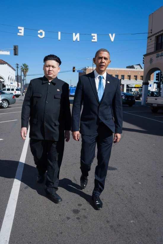 オバマさんと金正恩さんのツーショット7