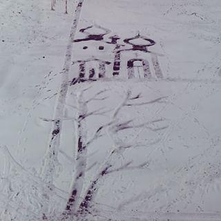 雪かきアート13
