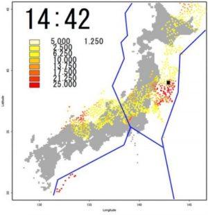 M7以上の大地震が1時間前に予知可能!京都大学梅野教授らが電離圏異常値で開発!